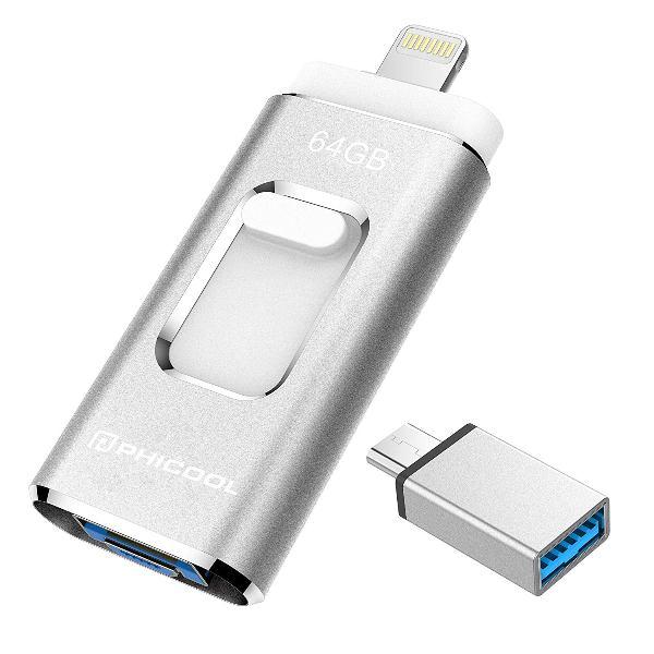 ขายแฟลชไดร์ฟเสียบมือถือไอโฟน Flash Drive OTG 3-in-1 ราคาถูก