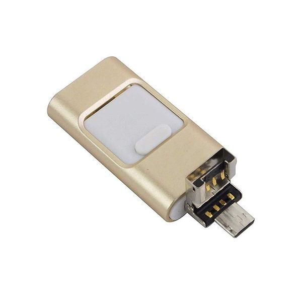 ขายแฟลชไดร์ฟเสียบมือถือ iPhone Flash Drive OTG 3-in-1 ราคาส่ง