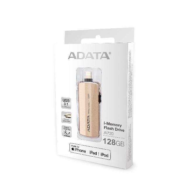 แฟลชไดร์ฟ 2 หัว Lightning OTG Flash Drive IPhone IPad สีทอง ADATA 3