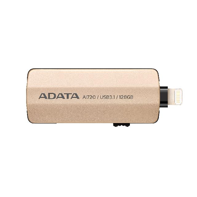 แฟลชไดร์ฟ 2 หัว Lightning OTG Flash Drive IPhone IPad สีทอง ADATA 2