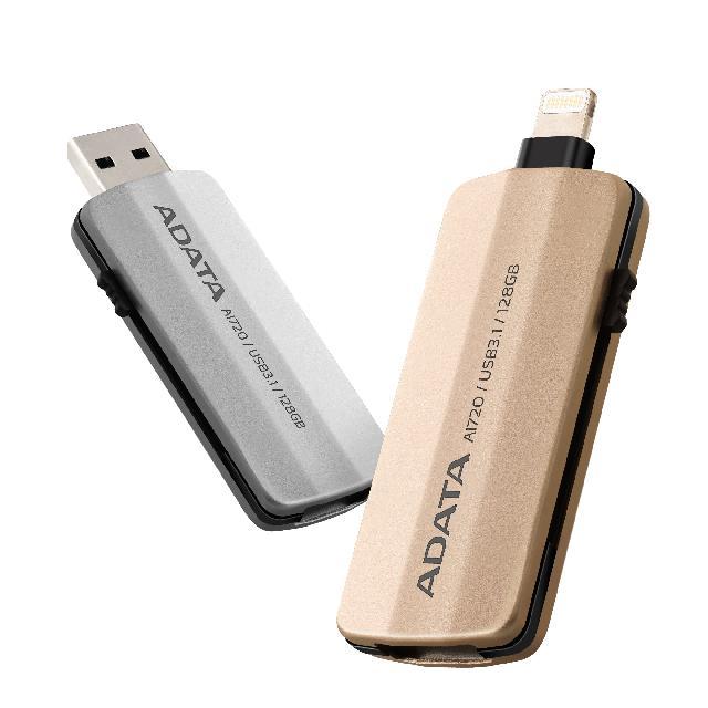 แฟลชไดร์ฟ 2 หัว Lightning OTG Flash Drive IPhone IPad สีทอง ADATA 4