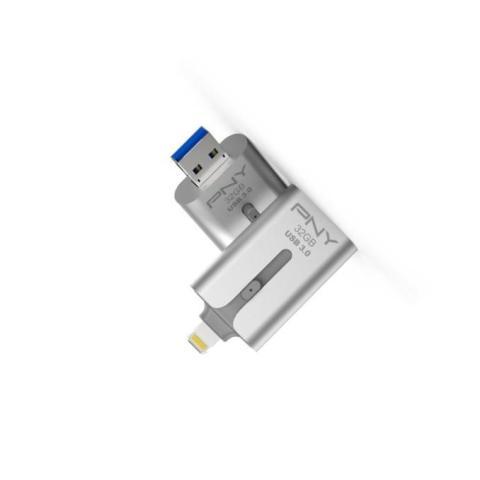 รับผลิต OTG Flash Drive Duo-Link 3.0 สำหรับ iPhone และ iPad จาก PNY 64GB