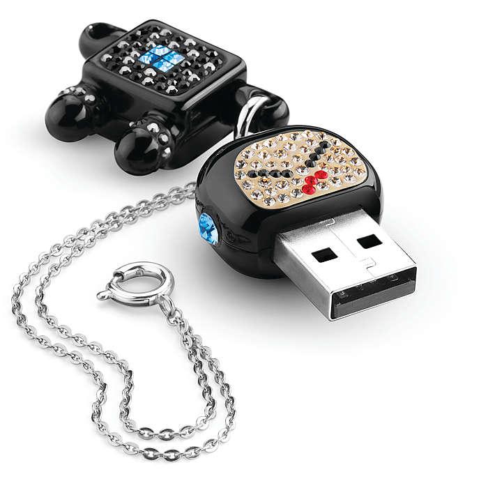 แฟลชไดร์ฟการ์ตูน ติดคริสตัล Robot Crystal USB Memory Key 2GB