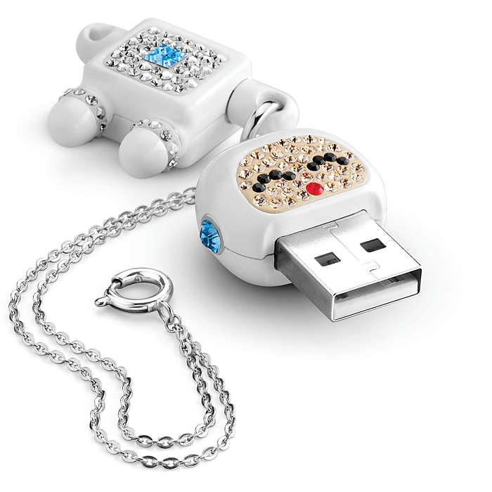 รับทำ แฟลชไดร์ฟหุ่นยนต์ ติดคริสตัล Robot Crystal USB Memory Key