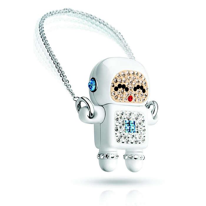 แฟลชไดร์ฟหุ่นยนต์ ติดคริสตัล Robot Crystal USB Memory Key