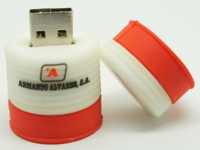 สั่งผลิต แฟลชไดร์ฟพร้อมสกรีนโลโก้ ราคาขายส่ง flash drive ยาง Soft PVC สีแดง