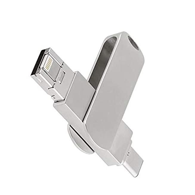ขายส่ง ที่เก็บข้อมูลไอแพด แท้ Storage 3in1 USB-C Flash-drive