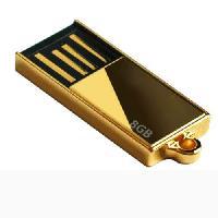 แฟลชไดร์ฟบางพิเศษ เคสสีทอง flash drive อันเล็ก ใช้เป็นจี้ห้อยคอ ดูหรูหรา