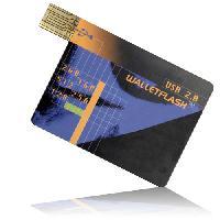 สั่งผลิต แฟลชไดร์ฟนามบัตร credit card flash drive ราคาส่ง พร้อมสกรีนหน้าหลังเท่ๆ
