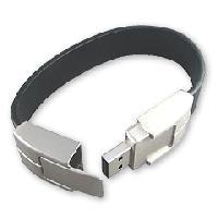 ผลิตแฟลชไดร์ฟกำไลข้อมือสายหนังราคาส่ง ตัวเรือน flash drive ทำจากโลหะ
