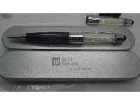 แฟลชไดร์ฟปากกาคริสตัล  สั่งทำ ปากกาแฟลชไดร์ฟคริสตัล พร้อมกล่องเหล็ก