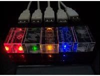 ขายส่ง แฟลชไดร์ฟคริสตัล อะคริลิค โปร่งแสง มีไฟในตัว พร้อมสกรีน ราคาถูก