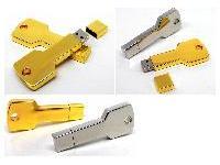 แฟลชไดร์ฟรูปกุญแจสีทอง แฟลชไดร์ฟโลหะสีเงิน เรียบหรูดูดี รุ่นใหม่ล่าสุด