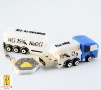 แบบขึ้นโมล์ดใหม่ แฟลชไดร์ฟรถบรรทุกสารเคมี สั่งทำแฟลชไดร์ฟยางหยอด