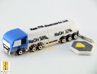 รับผลิต แบบขึ้นโมล์ดใหม่ แฟลชไดร์ฟรถบรรทุกสารเคมี สั่งทำแฟลชไดร์ฟยางหยอด