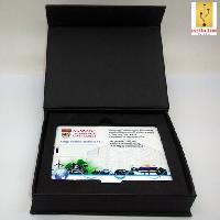 รับทำ กล่องกระดาษสีดำฝาปิดแถบแม่เหล็กขนาด(ฝาติดกับกล่อง)110*85*26