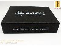 สั่งทำ กล่องกระดาษสีดำฝาปิดแถบแม่เหล็กขนาด(ฝาติดกับกล่อง)110*85*26