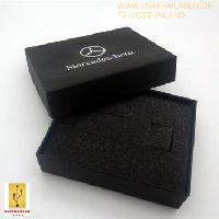 กล่องกระดาษสีดำ ฝาแยก ขนาด 100*80*26 mm