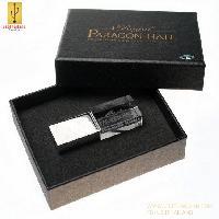 รับทำ กล่องกระดาษสีดำ ฝาแยก ขนาด 100*80*26 mm