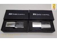 สั่งทำ กล่องกระดาษสีดำ ฝาแยก ขนาดเล็ก 90*45*25 mm