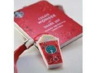 ตุ๊กตาพวงกุญแจ Starbucks แบบแฟลชไดร์ฟยางหยอด พร้อมกล่องสกรีนโลโก้