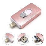 3in1 Pull MicroUSB USB-Flash-drive แฟลชไดร์ฟไอโฟน 128gb