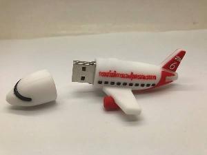 แฟลชไดร์ฟ ยางหยอด 3 มิติ รับผลิต USB รูปเครื่องบิน ราคาโรงงาน สามมิติ