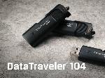 Kingston DataTraveler® 104 Flash Drive sliding cap 16gb 32gb 64gb