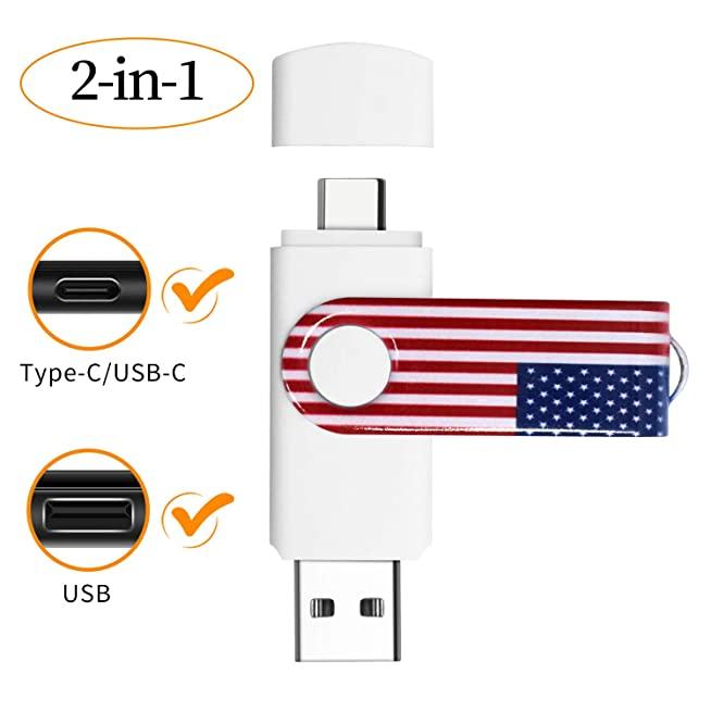 รับผลิต ขายส่งแฟลชไดร์ฟ Type-C 2in1 Storage USB-drive premium 8gb