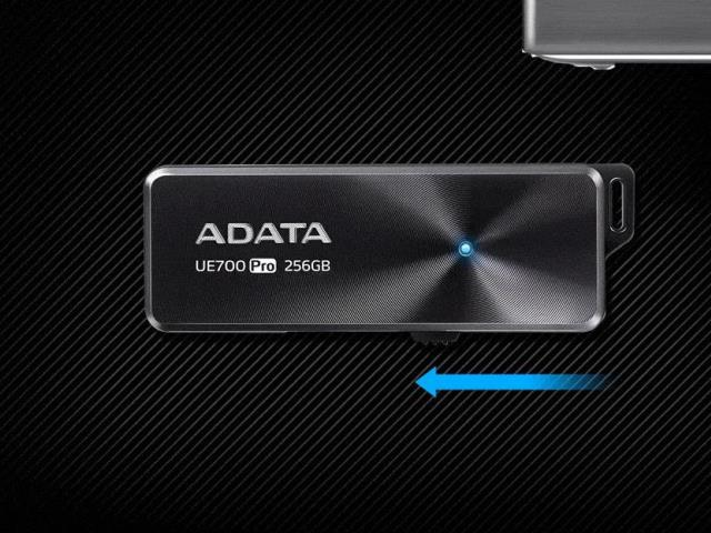 แฟลชไดร์ฟ โคตรบางเฉียบ กะทัดรัด พกพาสะดวก มีรูให้คล้องสาย (USB 3.1)