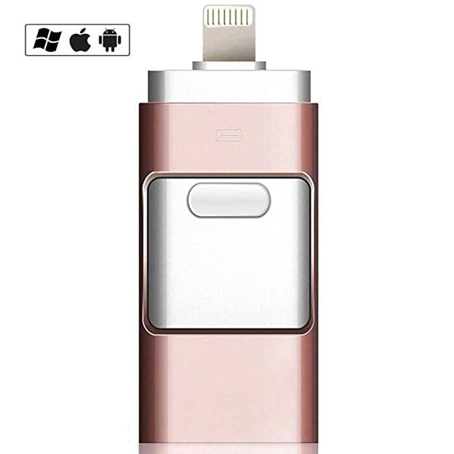 รับผลิต USB-Flash-drive 3in1 Blue ขายส่ง ที่เก็บข้อมูลไอแพด แท้ ราคา