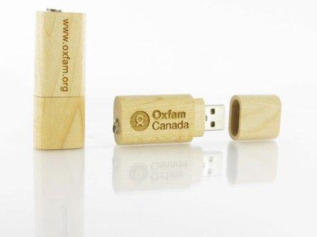 Flash Drive OEM แฟลชไดร์ฟไม้ แกะสลักโลโก้ Thumb Drive ผลิตตามแบบ